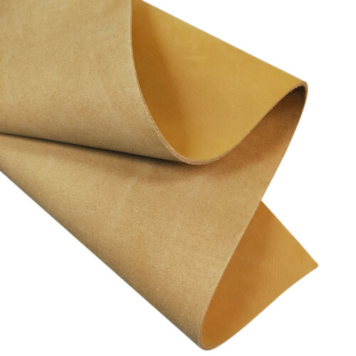 2.0mm Gold Matte Tooling Leather Square Full Grain Cowhide DIY Leather Crafts