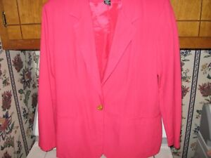 Womens Dress Size 12 Medium Skirt Suit Kathie Lee Large Pink Dress