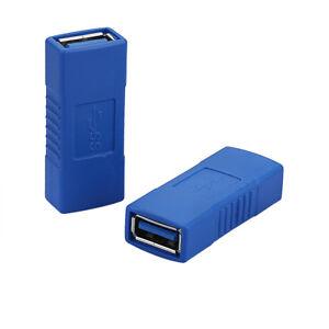 USB-3-0-Adapter-Kupplung-A-Buchse-zu-Buchse-2-USB-Kabel-verbinden-Gender-Changer