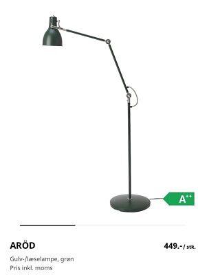 ARÖD Gulv læselampe, grøn IKEA