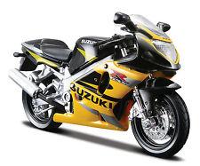 Suzuki GSX-R600 schwarz gelb Maßstab 1:18 die cast bike model von maisto