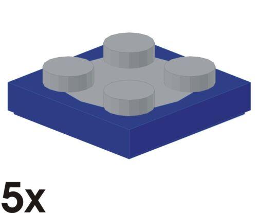 3679//3670 5 Stück NEUE Drehteller 2x2 in blau neu-hellgrau 67
