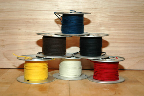 Vintage Style Cloth Wire 22 awg Solid 50/' Spool White
