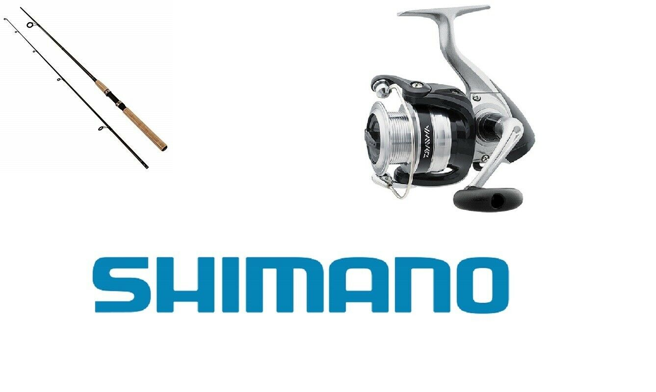 KIT SPINNING COMBO CANNA SHIMANO SOLARA 201 cm + MULINELLO DAIWA STRIKEFORCE