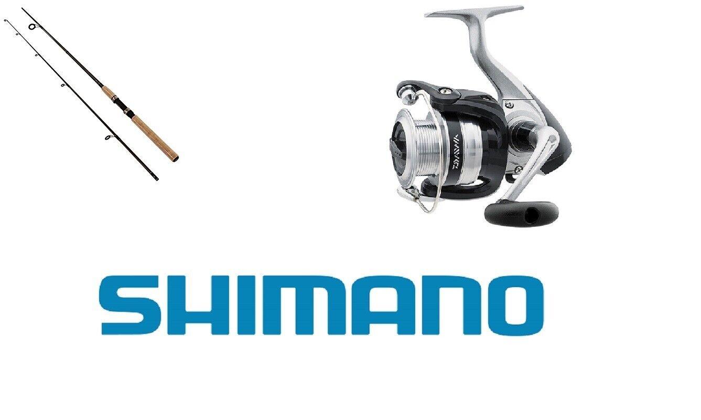 KIT SPINNING COMBO CANNA SHIMANO SOLARA 201 cm + MULINELLO DAIWA STRIKEFORCE