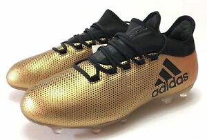 f4c0398d5 ADIDAS X 17.2 FG SOCCER CLEATS SIZE 9.5 METALLIC GOLD/BLACK CP9186 ...