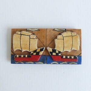 Boucle-bois-peint-Art-Deco-78-mm-XXe-Art-Deco-painted-wood-buckle