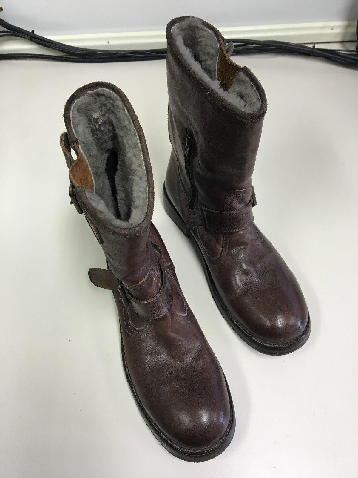MOMA Stiefel Halbstiefel Half Boot Gr. Stiefel Damen Damen Stiefel Woman braun Gr 4304a8