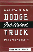 1941 42 43 44 45 46 47 Dodge Truck Owner's Manual Series Wc