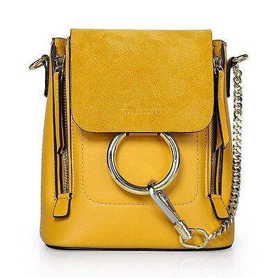 Women Fashion Genuine Leather Backpack Rucksack Handbag Crossbody Shoulder Bag