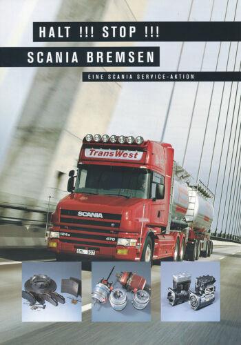 Scania Bremsen Teile Prospekt Zubehör 1999 brochure accessories accessoires Lkw