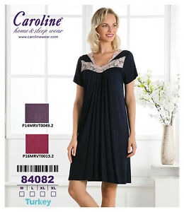 Damen-Schlafanzug-Nachthemd-Kimono-Caroline-Home-amp-Sleep-Wear-84082
