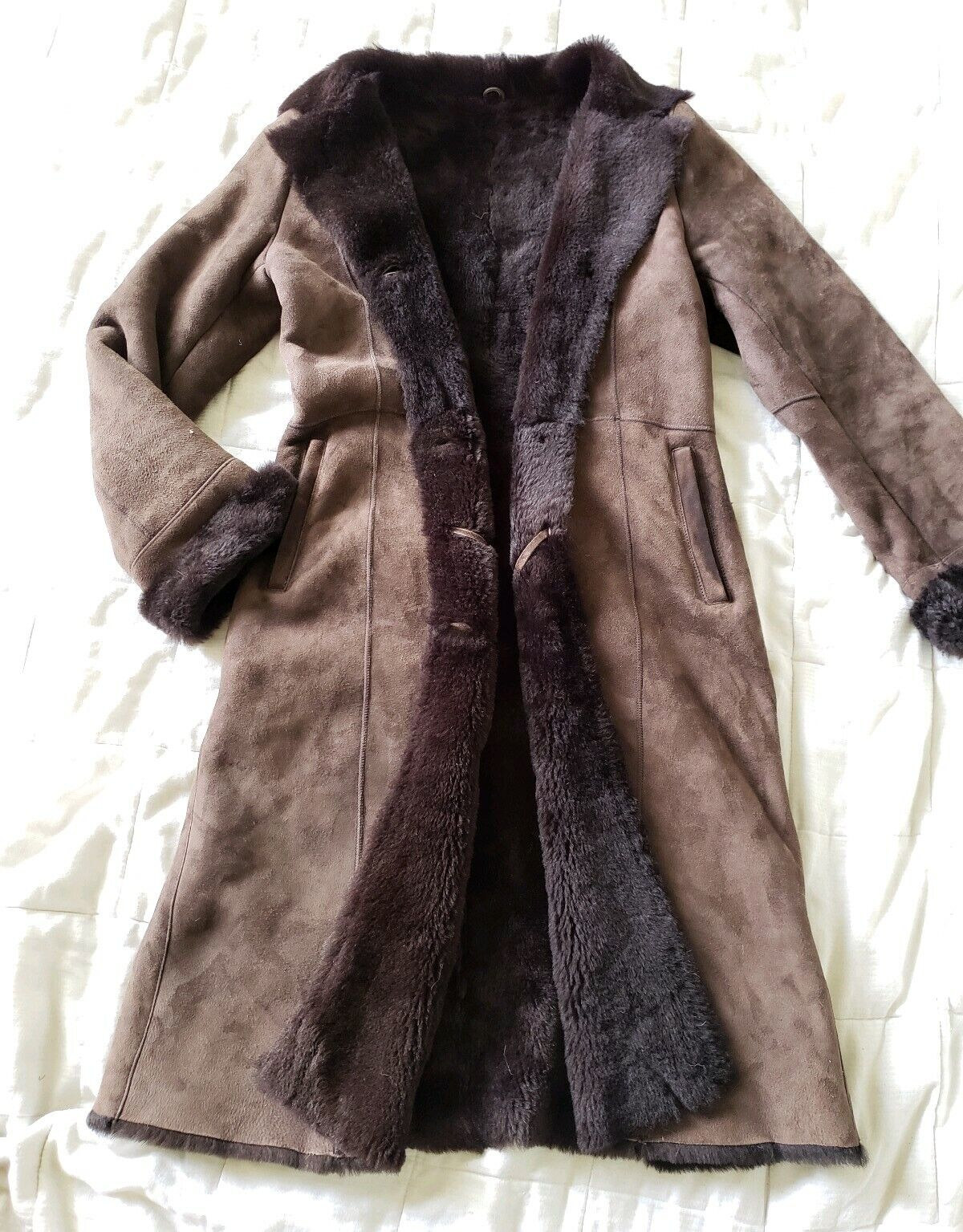 The Limited genuine full length shearling coat sl… - image 1
