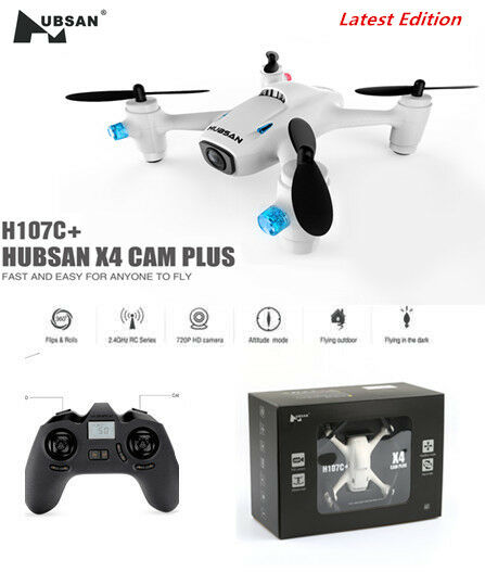 Hubsan H107C+ X4 Plus Mini RC Quadcopter 2.4G 6 Axis 720P HD Camera RTF (White)