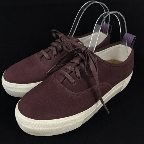 Eytys Mother Platform Sneaker Burgundy Suede Leath