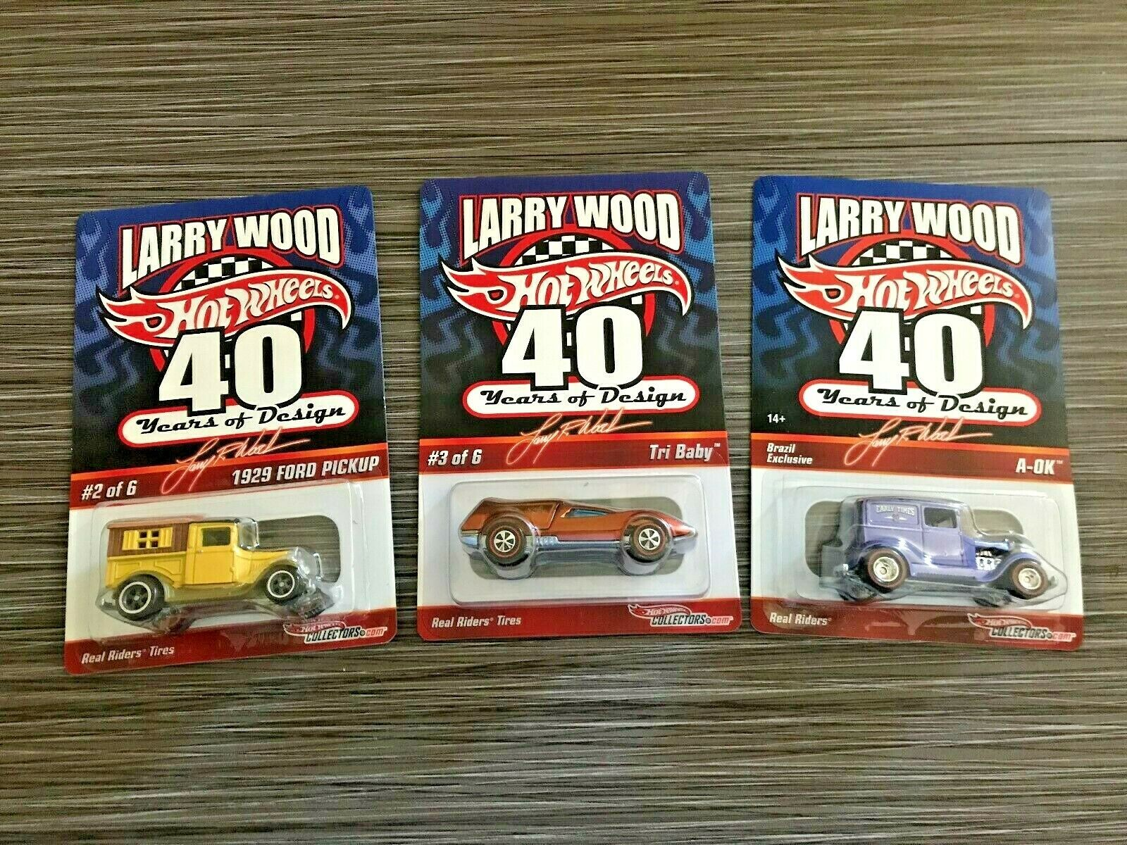 Hot Wheels  Larry Wood 40 Years of Design  (2009) Mixed Group w Real Riders