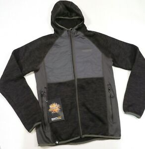 80-Men-039-s-Regatta-Great-Outdoors-Rocknall-Hybrid-Fleece-Black-Small-NWT