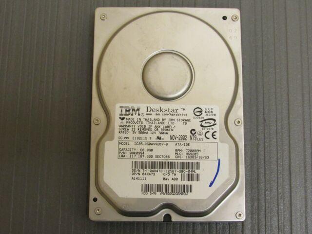 IBM IC35L060AVV207-0 41GB 7200RPM IDE Internal Hard Drive