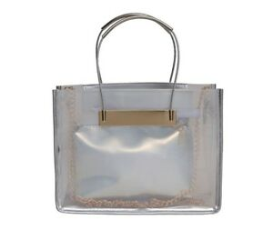 Handbag-Tote-Lady-039-s-Transparent-Shoulder-Bag-Jelly-PVC-Fashion-Bag-amp-Clutch