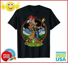 Hippie Eats Mushrooms See The Universe T Shirt Black Cotton Men S-6XLCartoon t s