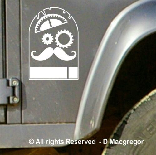 Steampunk 4X4 Autocollants Decal Defender Discovery Range, Land Rover