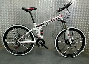 Pedalease Fusion 26 Wheel Folding Mountain Bike 2016 Model Mag