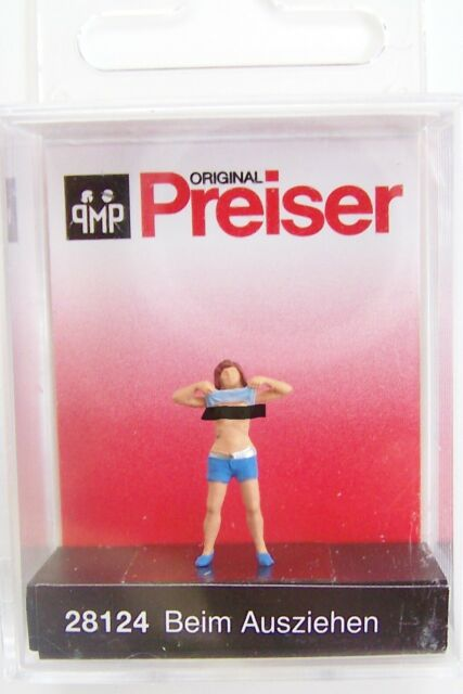 PREISER 28124 Pedestrian Lady Undressing HO Scale Figure