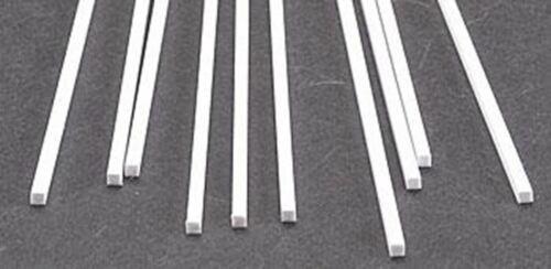 10 #90770 x Plastruct .100 x Square Rectangular Rods Styrene