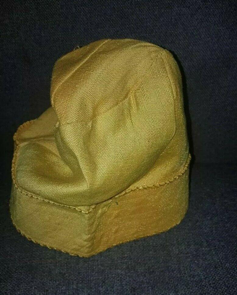 NEW NIGERIA Aso Oke Men's CAP(FILA) YELLOW COLOUR. SIZE 22 1/2