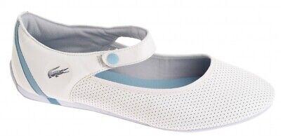 Ballerina Damen Lacoste Similee MJ PERF SRW leather leder Neu Gr:38 white-milk
