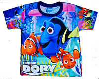 Disney FINDING DORY Nemo Boys Girls Kids child T Shirt Size L Age 6-8 #24 New