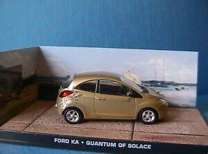 FORD KA quantum of solace JB60E voiture 1//43 IXO 007 JAMES BOND