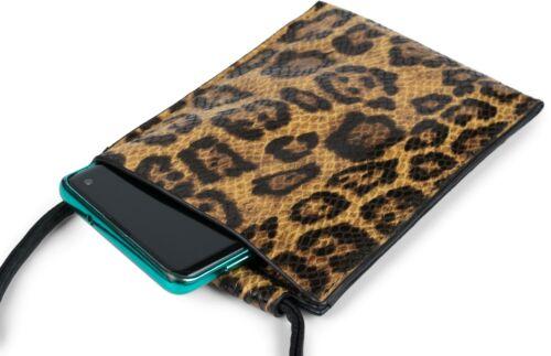 Handy-Tragetasche Schultertasche Handy Umhängetasche mit Leoparden Muster