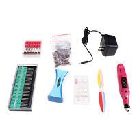 Professional Manicure Pedicure Electric Drill Nail Pen Machine Set Kit 6 Bits