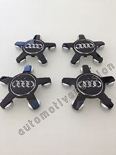 AUDI S4 A1 A4 A5 A6 A7 A8 R8 TT RS4 CENTRE WHEEL CAPS BLACK