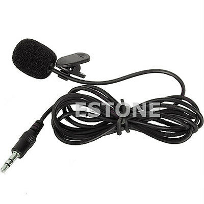 3.5mm Hands Free Clip On Mini Lapel Mic Microphone For PC Notebook