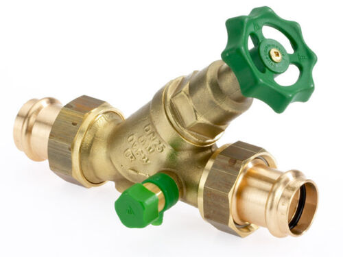 FREE Power Valve Angle Seat Valve 22 MM with Drain and 2 Press Fittings