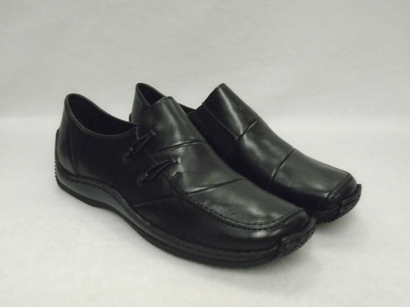RIEKER LADIES CLOSED IN Schuhe 'L1762' BLACK LEATHER