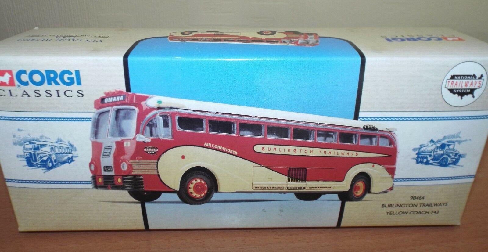 Corgi Classics Vintage Buses USA Burlington Trailways Ltd Edition