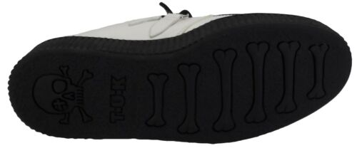 black Unisex White Creepers Hi … Rockabilly Tuk 6x7wq7