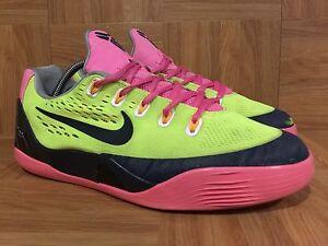 c91e9954777c RARE🔥 Nike Kobe 9 IX EM Volt Pink Wolf Gray Sz 5.5Y 653593-701 ...