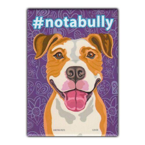 Pit Bull Terrier Retro Pets Refrigerator Magnet Advertising Art #notabully