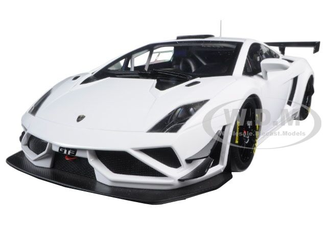 Lamborghini Gallardo Gt3 Fl2 2013 White 1 18 Model Car Autoart 81358