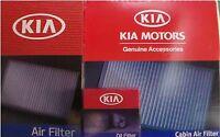 Genuine Kia Sportage 3 Pc Filter Kit Oil + Engine Air + Cabin Air Filter