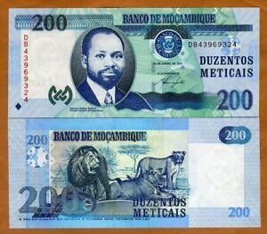Mozambique 200 Meticais p-152a 2011 UNC Banknote