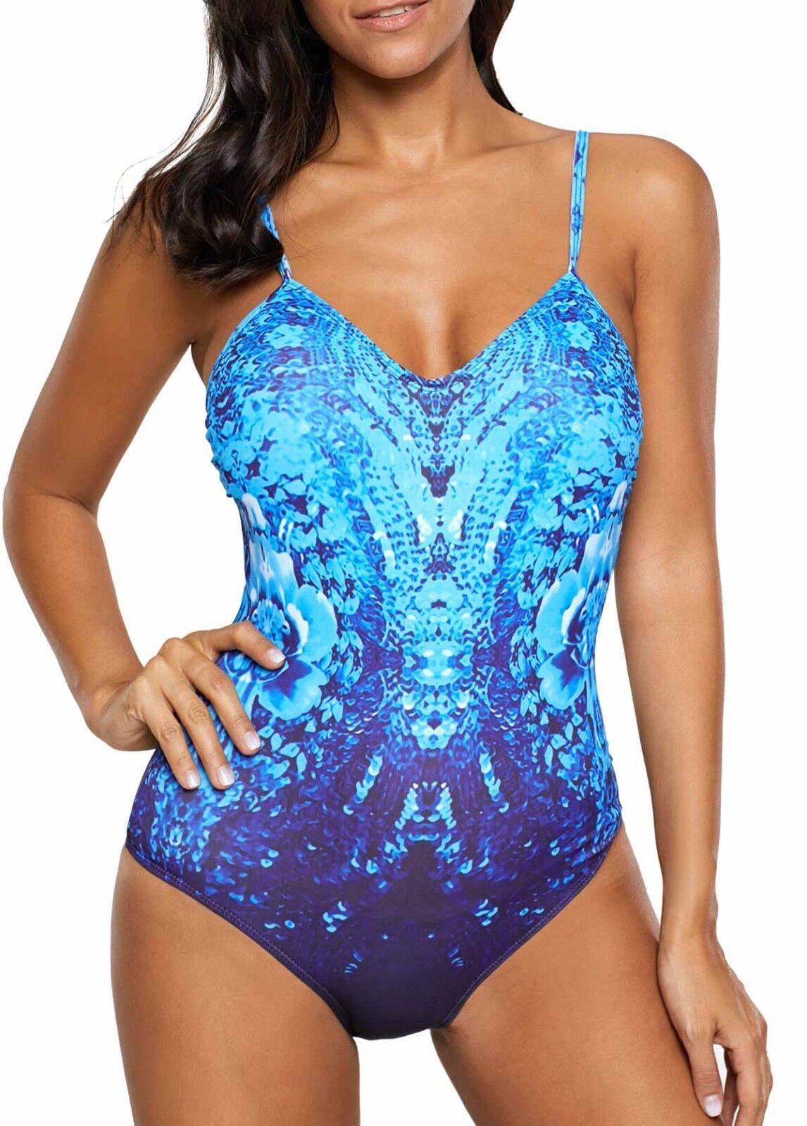 WOMEN CLOTHING SWIMWEAR SWIMSUIT NEW LG   XL MULTI blueE