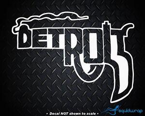Detroit Michigan Smoking Gun Pistol City Decal Ebay