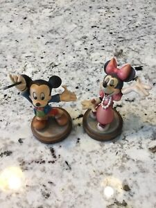 goofy Pluto Donald Duck Daisy Duck Minnie mouse ANRI miniature carving Disney carved wood and hand painted Mickey mouse