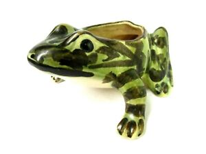 """Vtg. Brush McCoy Hand Painted 5½"""" long Frog Planter Very Good Condition"""