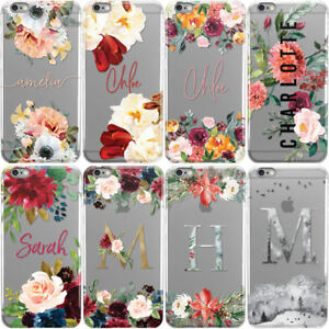 PERSONALISED-FLORAL-TRANSPARENT-CUSTOM-NAME-PHONE-CASE-COVER-FOR-APPLE-IPHONE